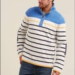 FAT FACE - Men's Airlie Striped Sweatshirt
